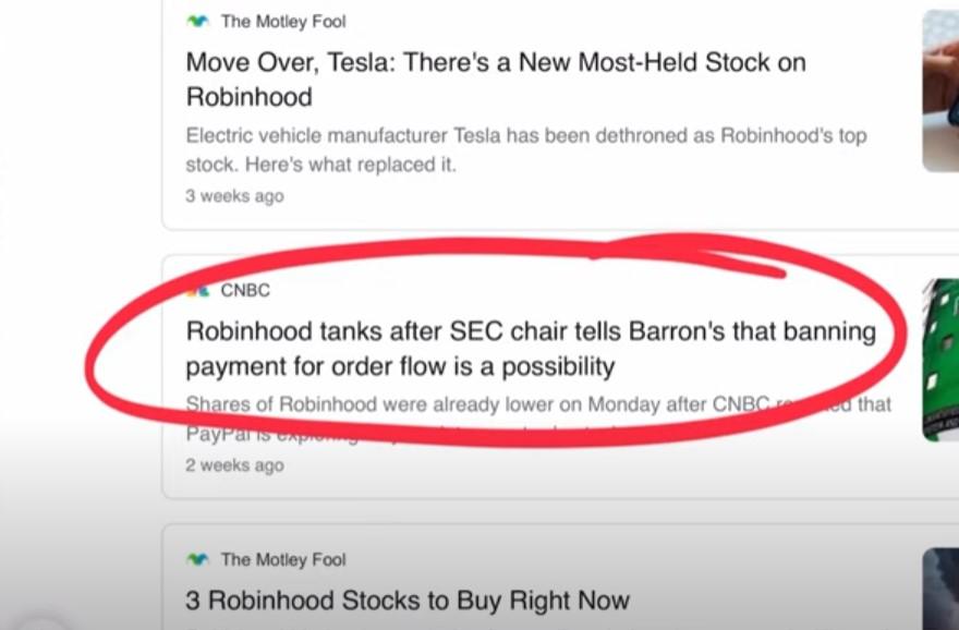 Robinhood tanks after SEC