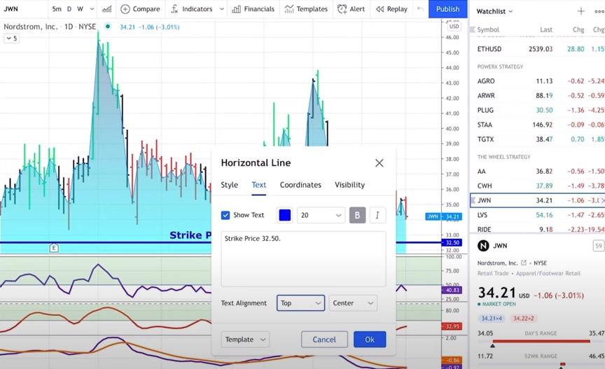 TradingView Drawing Tools