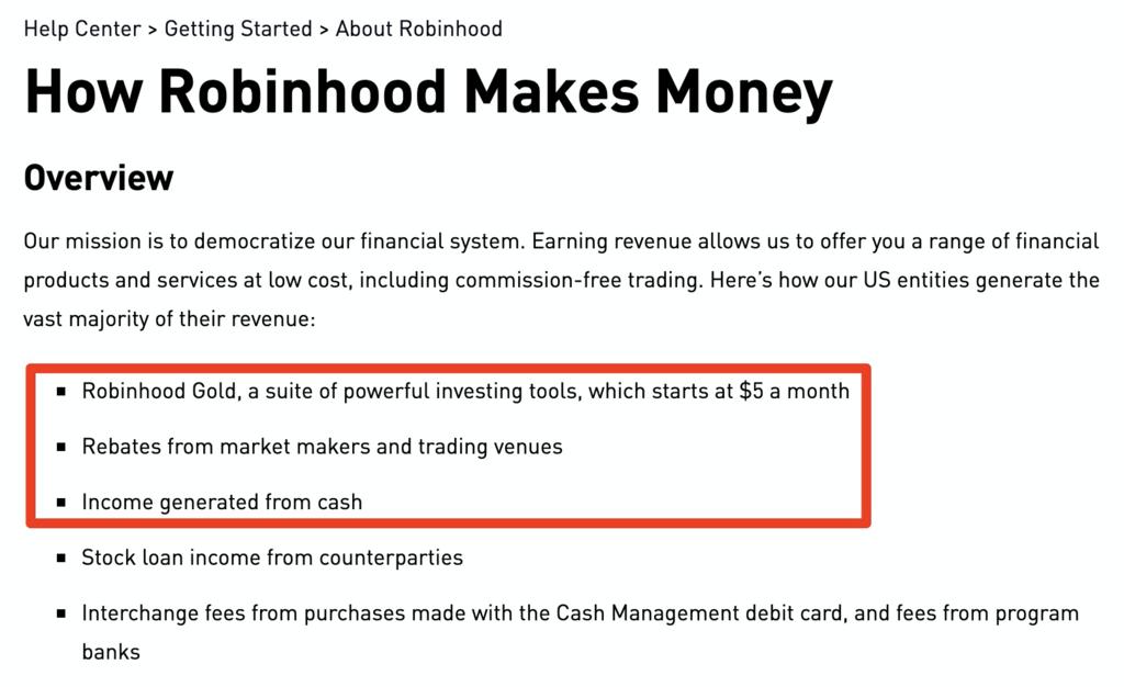 How Robinhood Makes Money