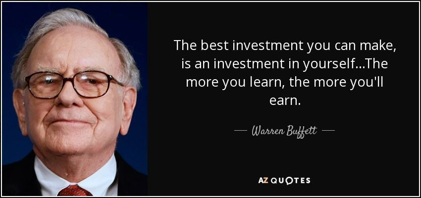 take 100 percent responsibility for your life - warren buffet quote